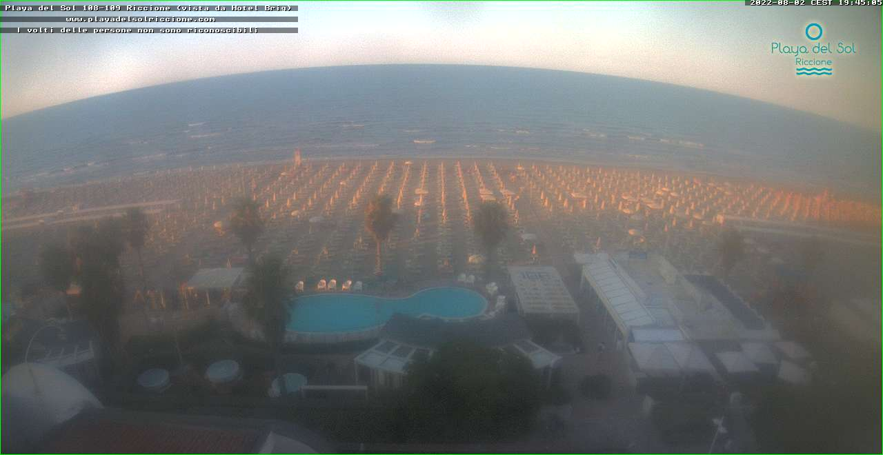 webcam Playa del Sol Riccione